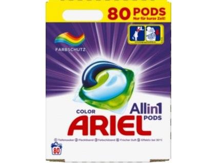 Ariel 3v1 Color gelové kapsle na barevné prádlo 80 ks, 2.43 kg