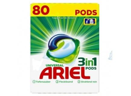 Ariel 3v1 Univerzální gelové kapsle 80 ks, 2,43 kg
